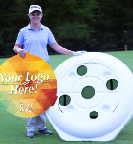 The Golf Target with custom graphics panel