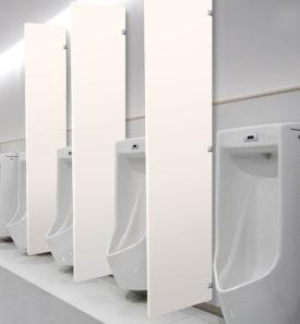 Extra tall urinal barrier